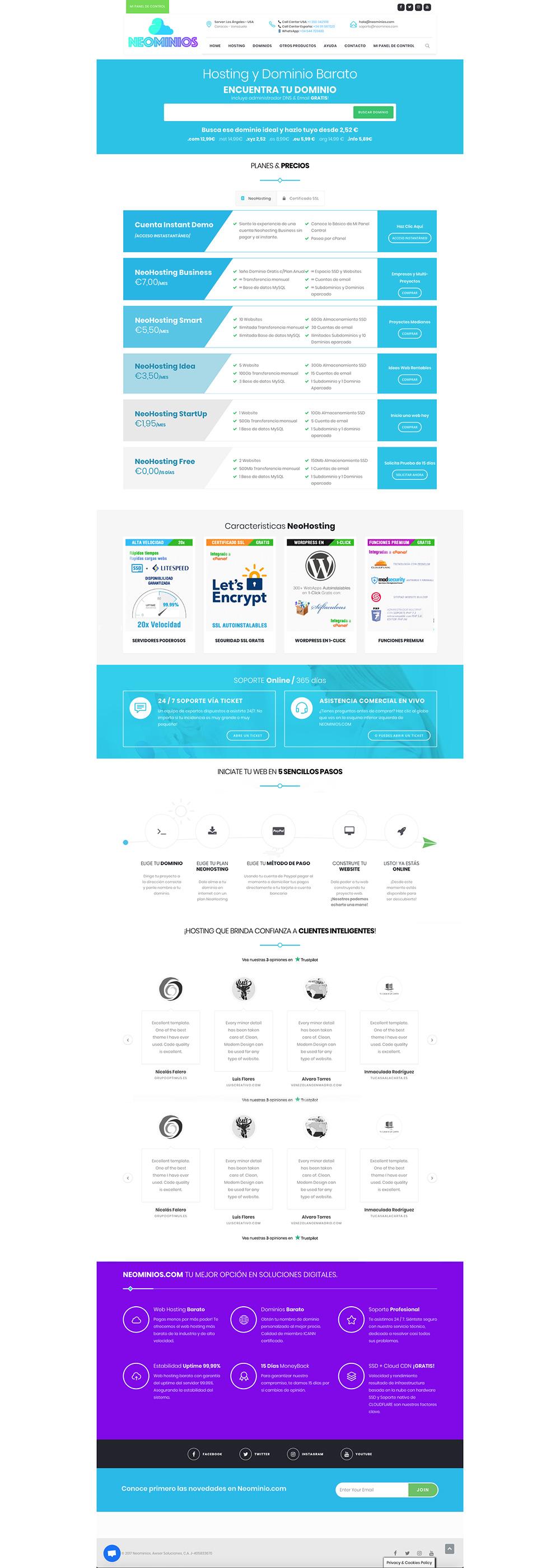 diseño web neominios